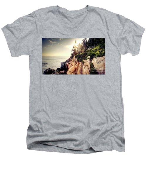 Bass Harbor Men's V-Neck T-Shirt
