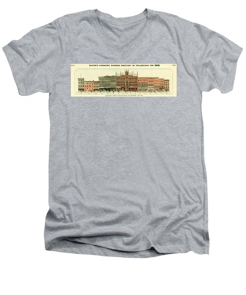 Baxter's Panoramic Business Directory Men's V-Neck T-Shirt
