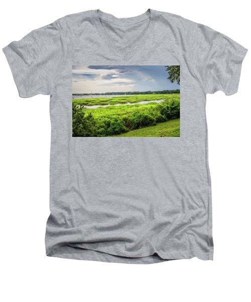 Bay Street View Men's V-Neck T-Shirt