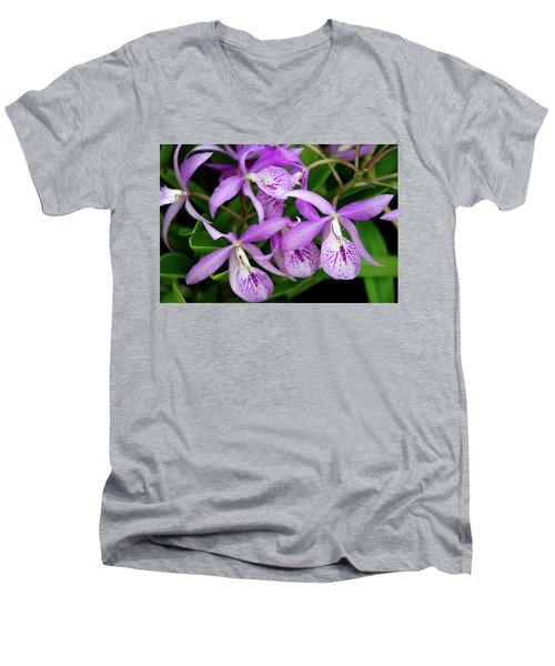 Bc Maikai 'louise' Orchid Men's V-Neck T-Shirt