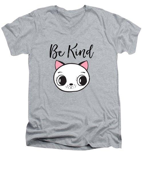 Be Kind - Baby Room Art Poster Print Men's V-Neck T-Shirt
