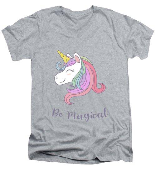 Be Magical - Baby Room Nursery Art Poster Print Men's V-Neck T-Shirt