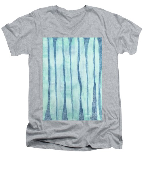 Beach Collection Beach Water Lines 2 Men's V-Neck T-Shirt