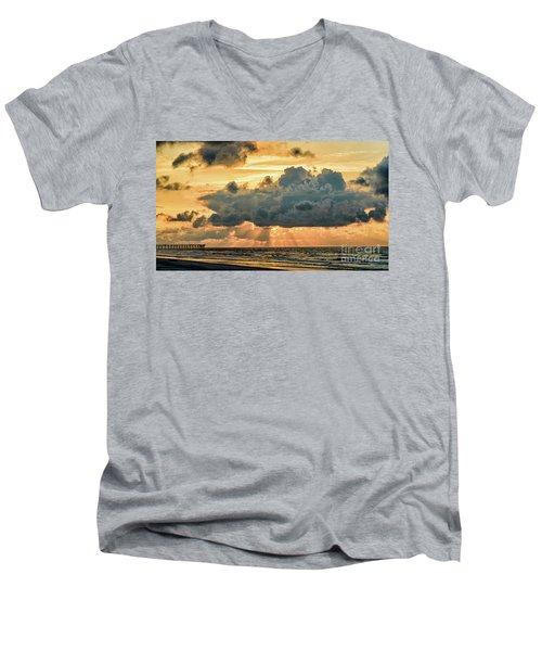 Beaming Through Men's V-Neck T-Shirt