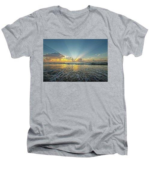 Beams Of Morning Light 2 Men's V-Neck T-Shirt