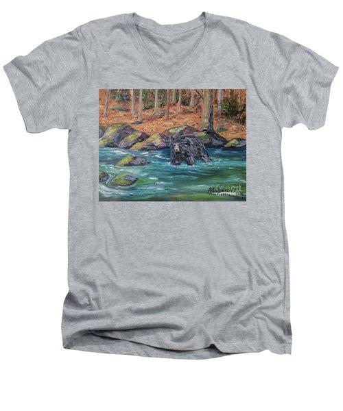 Bear Crossing Men's V-Neck T-Shirt