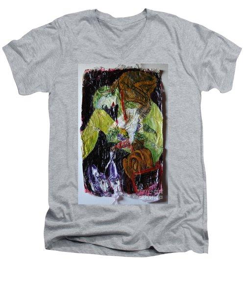Beaten By A Monkey Men's V-Neck T-Shirt