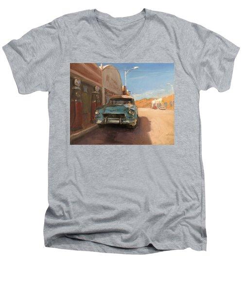 Beautiful Downtown Lowell, Arizona Men's V-Neck T-Shirt