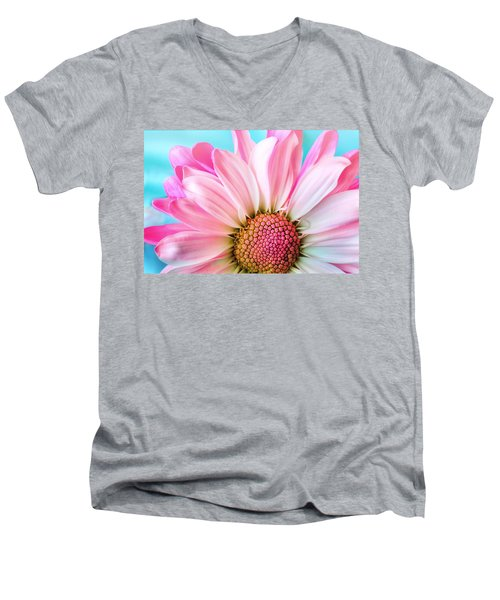 Beautiful Pink Flower Men's V-Neck T-Shirt