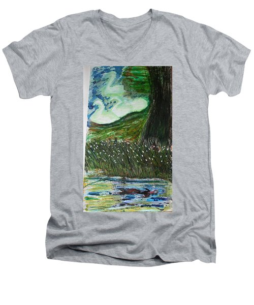 Beauty Is His Abusive Kingdom Men's V-Neck T-Shirt