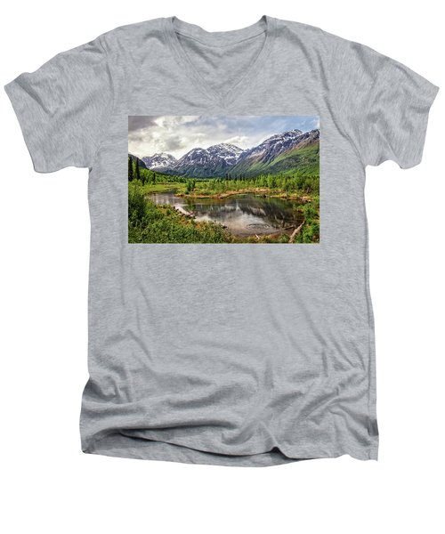 Beaver Pond, Eagle River Ak Men's V-Neck T-Shirt