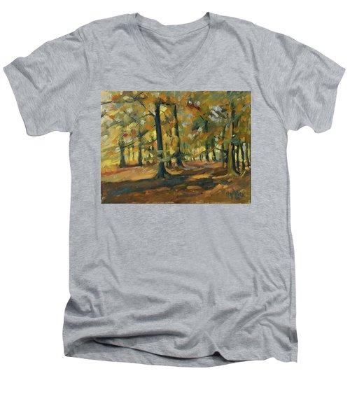 Beeches In Autumn Men's V-Neck T-Shirt