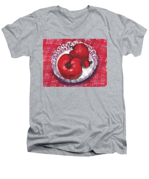 Bella Tomatoes Men's V-Neck T-Shirt
