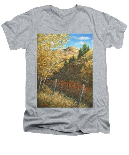 Belt Butte Autumn Men's V-Neck T-Shirt