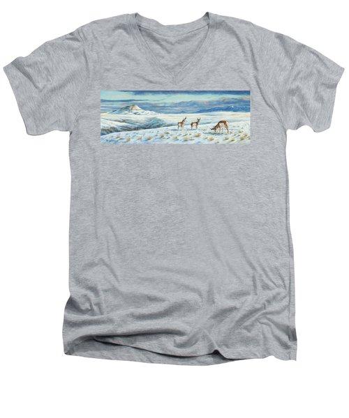 Belt Butte Winter Men's V-Neck T-Shirt