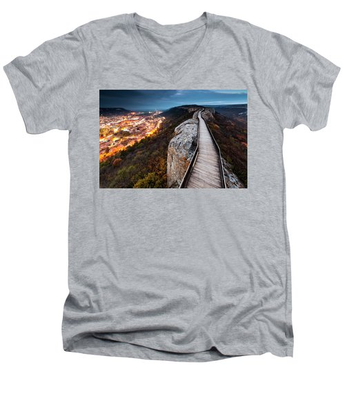 Between Epochs Men's V-Neck T-Shirt
