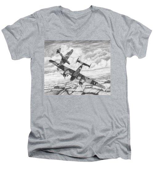 Bf-110c Zerstorer Men's V-Neck T-Shirt