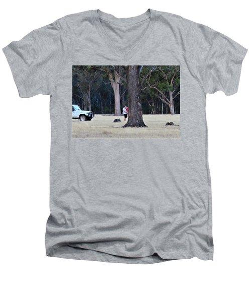 Big Gums On The Farm Men's V-Neck T-Shirt