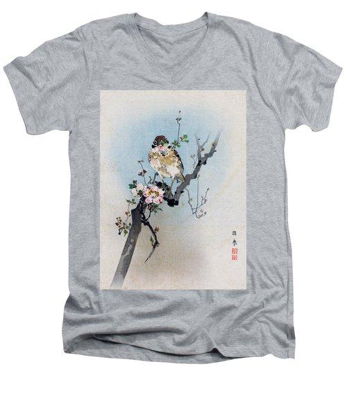 Bird And Petal Men's V-Neck T-Shirt