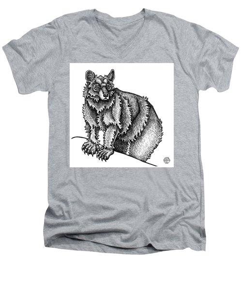 Black Bear Men's V-Neck T-Shirt
