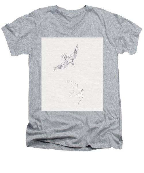Black-billed Gulls Men's V-Neck T-Shirt