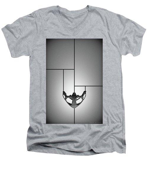 Black Chalice - Abstract Geometric Bone Art Men's V-Neck T-Shirt