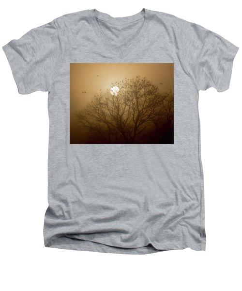 Blackbird Sunrise Men's V-Neck T-Shirt