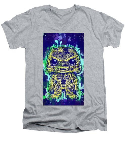 Creature From The Black Lagoon Pop Men's V-Neck T-Shirt