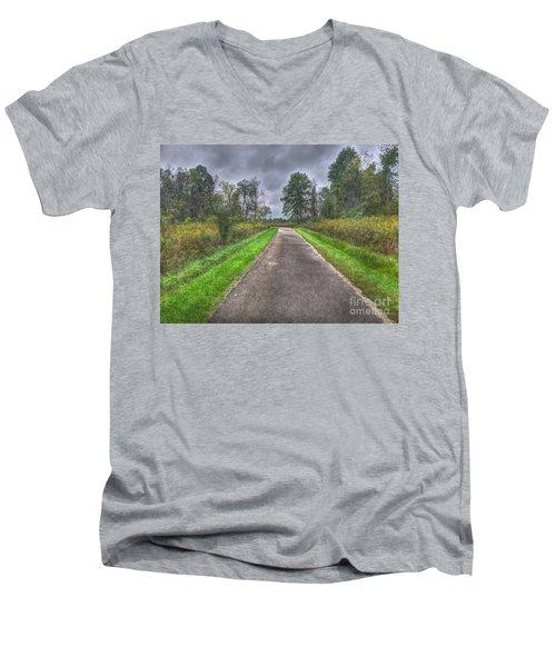 Blacklick Woods Pathway Men's V-Neck T-Shirt