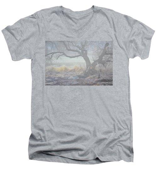 Men's V-Neck T-Shirt featuring the photograph Blanket Of Fog by Randi Grace Nilsberg