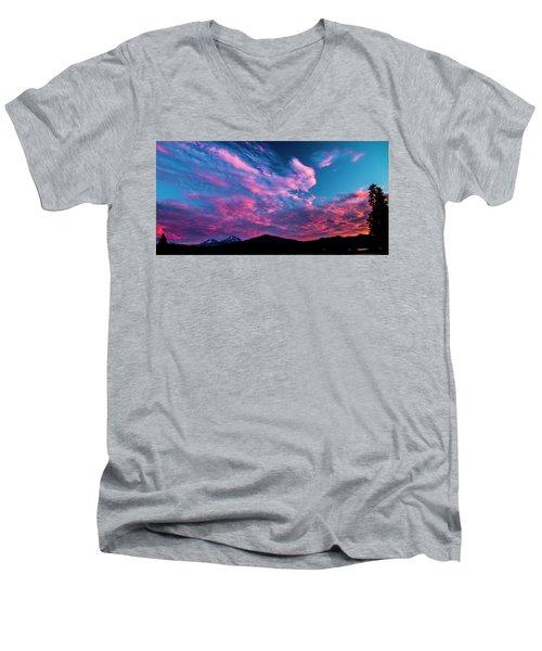 Blazing Sunset Men's V-Neck T-Shirt