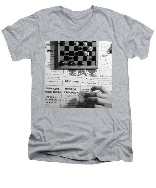 Blot Here, Aka Black's Move, 1972 Men's V-Neck T-Shirt