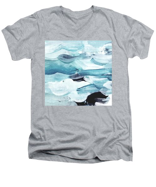 Blue #13 Men's V-Neck T-Shirt