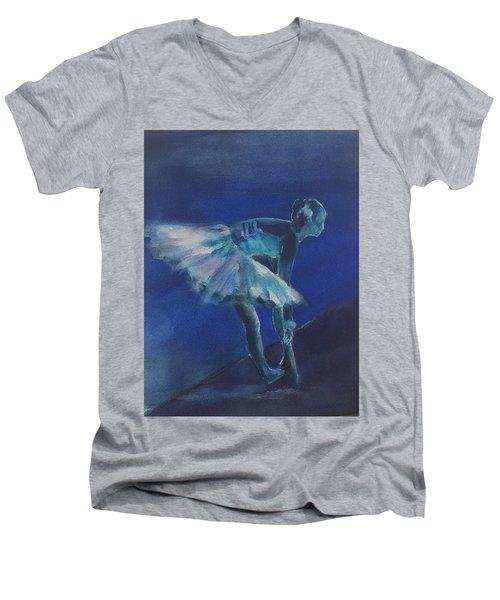 Blue Ballerina Men's V-Neck T-Shirt