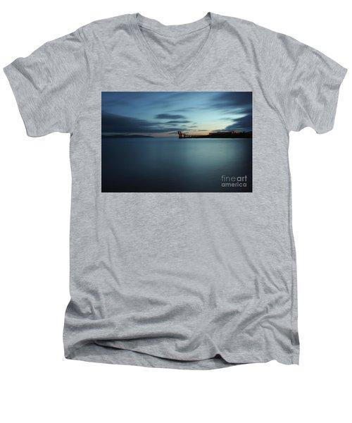 Blue Hour Salthill Men's V-Neck T-Shirt