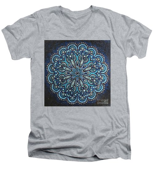 Blue Mandala Men's V-Neck T-Shirt