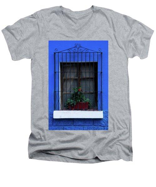 Blue-ming Beauty Men's V-Neck T-Shirt