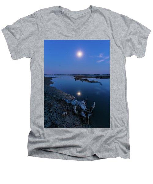 Blue Moonlight Men's V-Neck T-Shirt