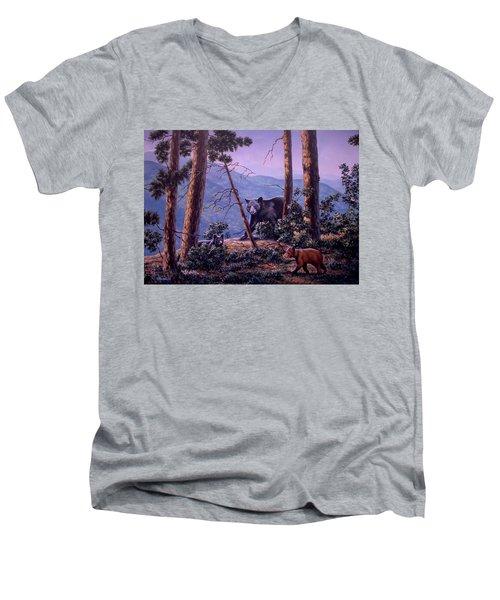 Blue Ridge Bears Men's V-Neck T-Shirt