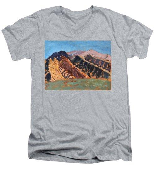 Blue Sky Canigou Men's V-Neck T-Shirt