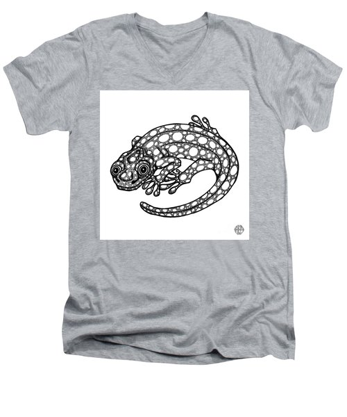 Blue Spotted Salamander Men's V-Neck T-Shirt