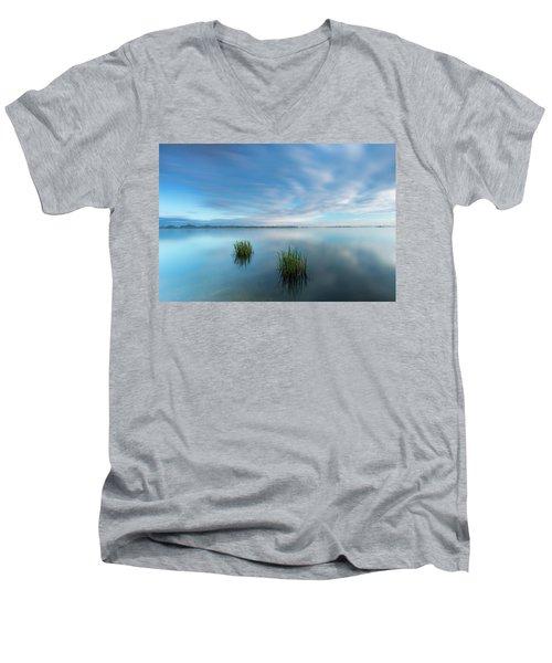 Blue Whirlpool Men's V-Neck T-Shirt