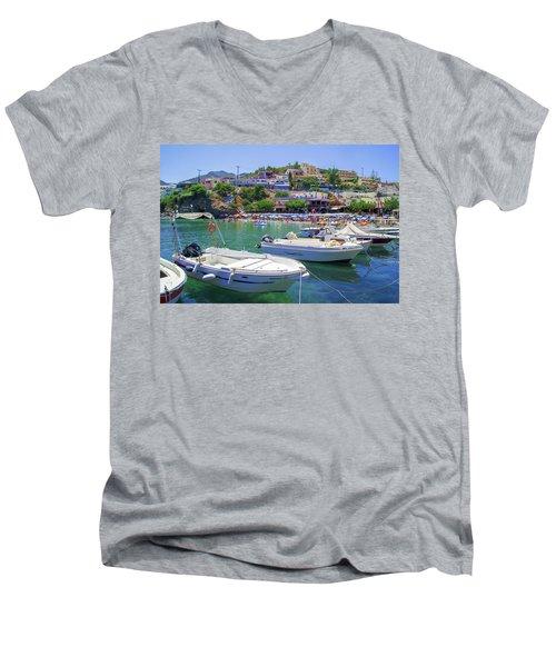 Boats In Bali Men's V-Neck T-Shirt