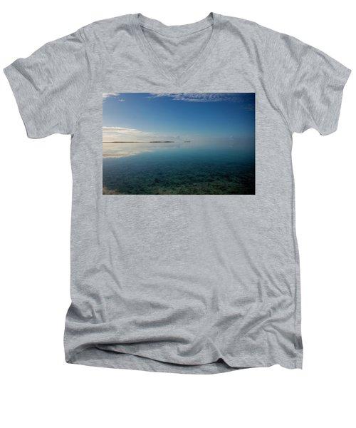 Bonefish Flats, Great Exuma Men's V-Neck T-Shirt