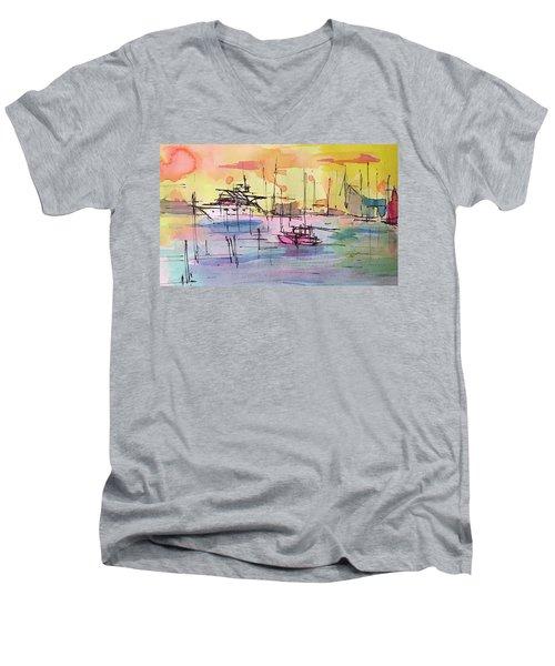 Boothbay 2  Men's V-Neck T-Shirt