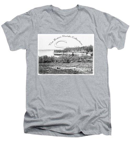 Boston Harbor, View To The Nw Men's V-Neck T-Shirt