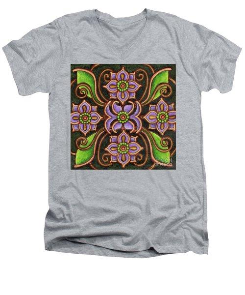 Botanical Mandala 6 Men's V-Neck T-Shirt
