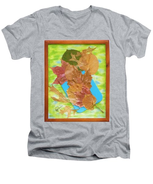 Bouquet From Fallen Leaves Men's V-Neck T-Shirt