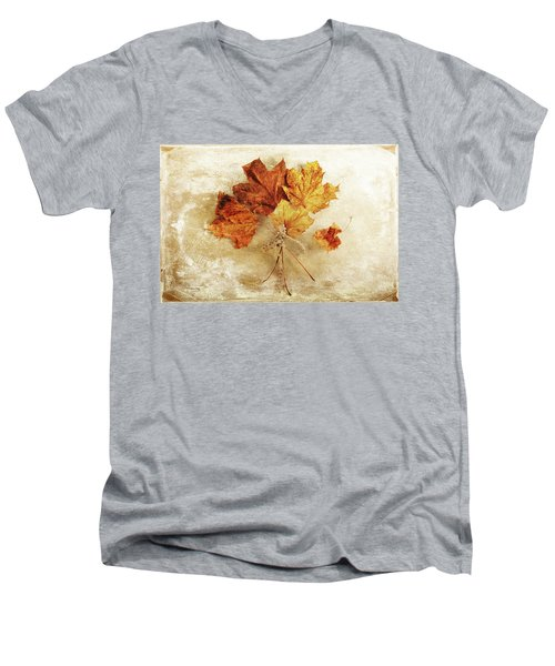 Men's V-Neck T-Shirt featuring the photograph Bouquet Of Memories by Randi Grace Nilsberg