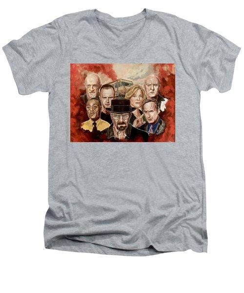 Breaking Bad Family Portrait Men's V-Neck T-Shirt